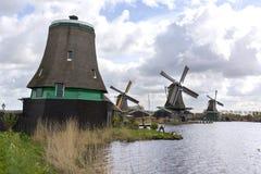 在Zaanse Schans的风车 库存照片
