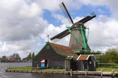 在Zaanse Schans的风车 库存图片