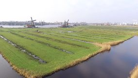 在Zaanse Schans的鸟瞰图 影视素材