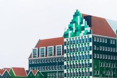 在zaanstad,荷兰的现代建筑学 免版税库存图片