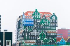 在zaanstad,荷兰的现代建筑学 库存图片