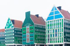 在zaanstad,荷兰的现代建筑学 免版税库存照片