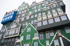 在zaanstad,荷兰的现代建筑学 图库摄影