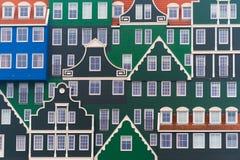 在zaanstad,荷兰的现代建筑学 库存照片