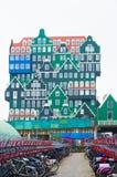 在zaanstad,荷兰的现代建筑学 免版税图库摄影