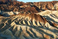 在Zabriskie点,死亡谷的日出 免版税图库摄影