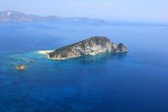 在Zakynthos海岛的概览 免版税库存图片