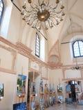 在ZamoÅ› Ä ‡,波兰的犹太教堂 免版税图库摄影