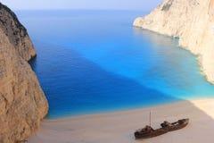 在Zante,希腊的海难 免版税库存照片