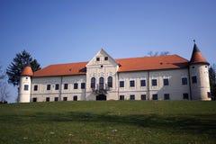 在Zapresic附近的Luznica城堡 免版税库存照片