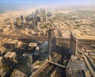在Zayed Road回教族长摩天大楼的看法 库存照片