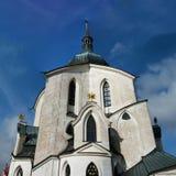 在Zdar nad Sazavou附近的Zelena Hora 库存照片