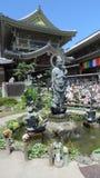 在Zenko ji寺庙的Mizuku Kanon在长野 库存照片