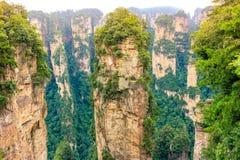 在Zhangjiajia全国森林公园,武陵源,湖南,瓷的哈利路亚山 库存图片