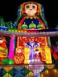 在Zigongï ¼ Œ中国的灯节 免版税图库摄影