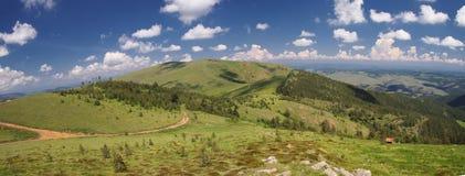 在Zlatibor山的Cigota山顶在塞尔维亚 免版税图库摄影