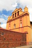 大教堂在San Cristobal de Las Casas,墨西哥 免版税库存照片