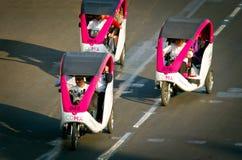 在Zocalo的周期出租汽车在墨西哥城 免版税库存照片