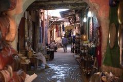 在zoco在马拉喀什, Morroco的街道 库存照片