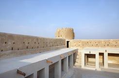 在Zubarah堡垒,卡塔尔里面的北部西部画廊 免版税库存图片