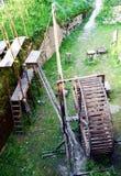 在Zumelle城堡的老磨房,在贝卢诺,意大利 免版税库存照片