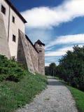 在Zvolen城堡,斯洛伐克下的公园 库存照片