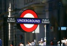 地下伦敦公共地铁 免版税图库摄影