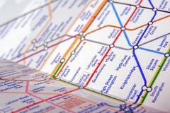 地下伦敦管地图  免版税库存图片