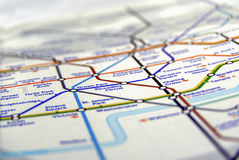 地下伦敦管地图  免版税库存照片