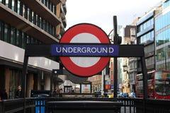 地下伦敦 免版税库存照片