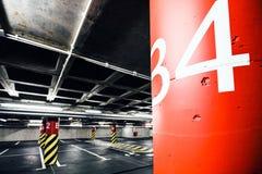 地下停车库内部 免版税图库摄影
