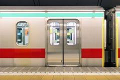地下地铁地铁火车在东京都道府县 库存照片