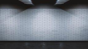 地下地铁砖墙- 3D翻译 皇族释放例证