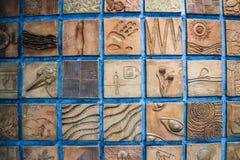 地下地铁车站的装饰元素在德黑兰 库存照片