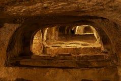 地下墓穴基督徒马耳他拉巴特 免版税图库摄影