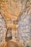 地下墓穴网络,傲德萨,乌克兰 库存照片
