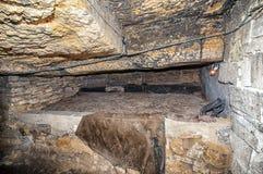 地下墓穴网络,傲德萨,乌克兰 免版税图库摄影
