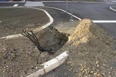 地下复合体缆绳 库存照片
