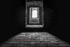 地下室入口和台阶 库存照片