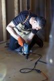 地下室粗地板设施 图库摄影