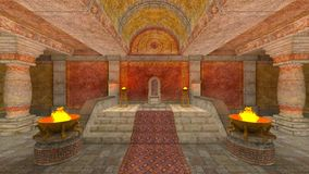 地下寺庙 免版税库存图片