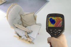 地下暖气设备Thermovision 免版税库存图片