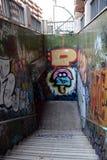 地下段落在巴塞罗那 库存照片
