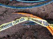 地下气体管道 免版税库存照片