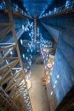 地下湖在图尔达盐矿 免版税库存照片