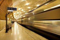 地下火车站在摩纳哥。 库存照片