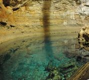 地下的湖 库存图片