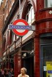 地下科芬园-伦敦 库存图片