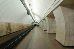 地下莫斯科,岗位Chekhovskaya 免版税库存图片