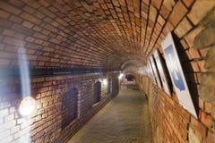 地下道路在Rzeszow,波兰镇  免版税库存图片